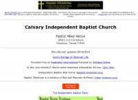 Calvary Independent Baptist Church