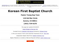 Korean First Baptist Church