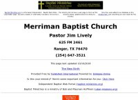 Merriman Baptist Church
