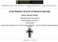 First Baptist Church of Mineral Springs